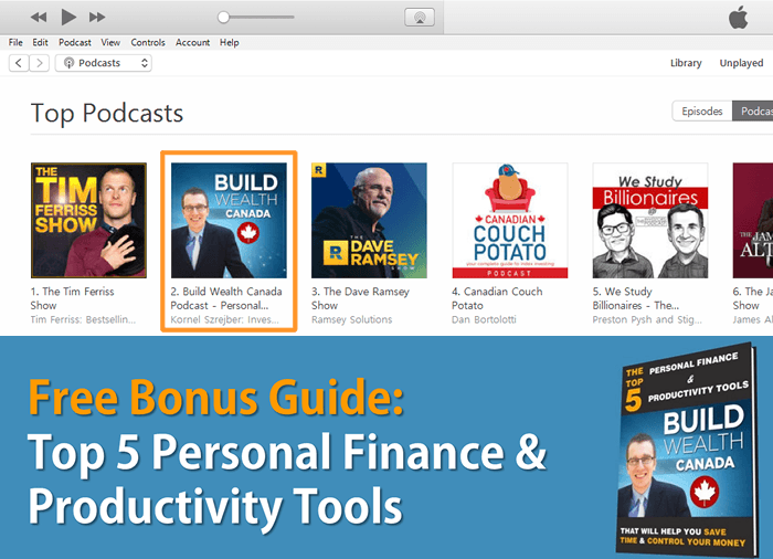 Build Wealth Canada Podcast Ranking